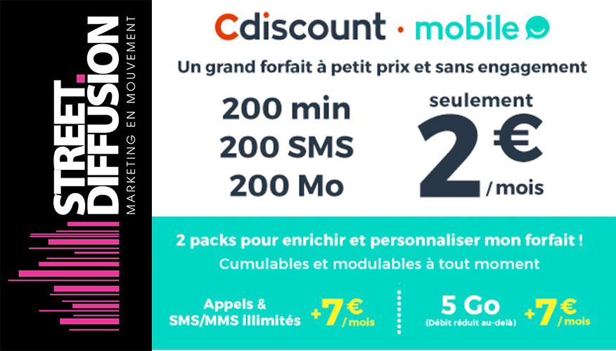 Partenariat Cdiscount mobile et Street Diffusion