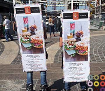 Opération sac à dos X-banner Ari's Bagels - Street Diffusion