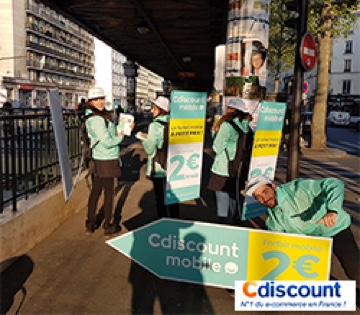 Street marketing Cdiscount mobile - Street Diffusion