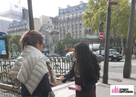 opération street marketing Carrément Fleurs - Street Diffusion