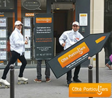 Sign spinning Côté Particuliers - Street Diffusion
